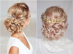 wedding updo hairstyles / http://www.himisspuff.com/wedding-hair-accessory-and-hairstyles/