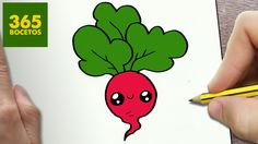 COMO DIBUJAR RABANO KAWAII PASO A PASO - Dibujos kawaii faciles - How to...