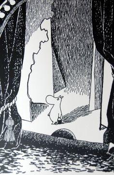 Moomin postcard classic style black and white от Farmazony Tove Jansson, Black And White Illustration, Manga Illustration, Comic Character, Finland, Scandinavian, Fairy Tales, Art Drawings, Artsy