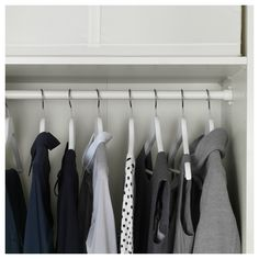 Pin for Later: This Ikea Purchase Is the Answer to All Your Small-Closet Problems I Installed Shelves and Clothes Rails at the Top Pax System, Storage One, Ikea Storage, Dressing Ikea, Ikea Komplement, Trouser Hangers, Tiny Closet, Shoe Shelves, Ikea Family