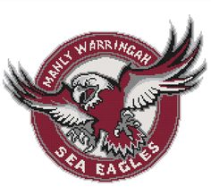 I'm selling Manly Sea Eagles cross stitch pattern - A$3.30 #onselz
