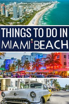 Things to do in Miami Beach Florida. Discover Miami Beach district and the famous Ocean Drive with its Miami Neon brightly colored facades. Experience the Miami nightlife in this famous Miami Art Deco architecture neighborhood. Take a ride in a South Beach classic cars along Ocean Drive Miami. Cycle the Miami beach boardwalk or stroll along Espanola Way for the best Miami photography locations.