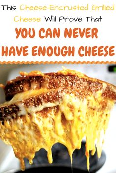 CHeese Encrusted Grilled Cheese Sandwich!