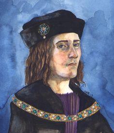 Another watercolor portrait of Richard III