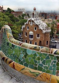 ParqueGüell  Parque Güell, or Guell Park, by Antoni Gaudi, 1900 to 1914,Barcelona. been here, and it is quite amazing! check!