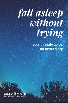 "You won't fall asleep by ""Trying"" to sleep. The key to restful deep sleep is the letting-go mindset. A letting-go attitude is a way of the mind. It is the organizing principle that your mind applies to run your life, influence your decisions and actions, and shape your behavior and responses. Meditation helps you cultivate a letting-go mindset. Here's how."