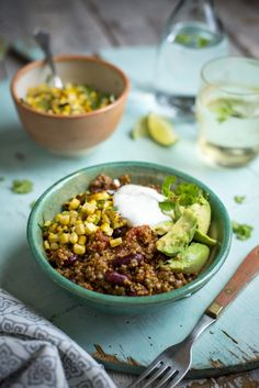 Super Power Chilli with Charred Corn Salsa... A vegetarian chilli con carne that will convert any meat eaters! | DonalSkehan.com
