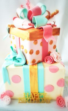 Stacked presents cake Cake Pinterest Cake