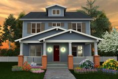 Craftsman Style House Plan - 6 Beds 5 Baths 4199 Sq/Ft Plan #461-40