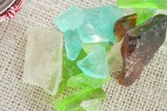 Homemade diy sea glass candy recipe  for summer or beach wedding favor