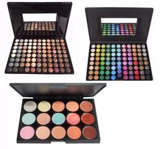kit profissional paleta nude colorida e corretivo facial