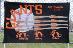 Cal Ripken Baseball GiantsTeam Banner