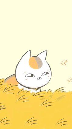 Natsume Yujin-Cho The Movie: Ephemeral Bond Cat Wallpaper, Trendy Wallpaper, Iphone Wallpaper, Wallpaper Backgrounds, Chibi, Manga Anime, Anime Art, Natsume Takashi, Anime Lock Screen