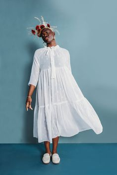 Buy The Wilder Gown sewing pattern from Friday Pattern Company. The Wilder Gown is a loose, flowy, tiered dress and is perfect for the summer. Simple Dresses, Summer Dresses, Romantic Dresses, Pretty Dresses, Modern Sewing Patterns, Pdf Patterns, Clothing Patterns, Gown Pattern, Simple Dress Pattern
