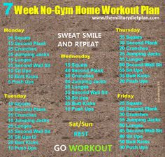 #fatloss #weightloss fatlossplan 7 Week No-Gym Home Workout Plans