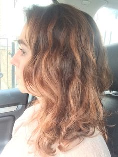 Olaplex No3 Curly hair amazon review- after photo less frizzy Curly brown hair
