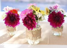 Purple Wild Flower Floral Arrangements by Country Girl Collections