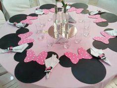 Minnie como marcador de mesa