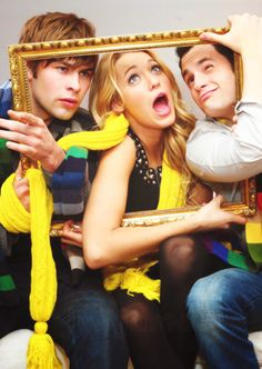 Such an awesome photo: Chace Crawford, Blake Lively, Penn Badgley