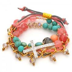 Pulsera Cruz Plata | Dulce Encanto accesorios para mujer  Compra tus accesorios desde la comodidad de tu casa u oficina en www.dulceencanto.com #accesorios #accessories #aretes #earrings #collares #necklaces #pulseras #bracelets #bolsos #bags #bisuteria #jewelry #medellin #colombia #moda #fashion
