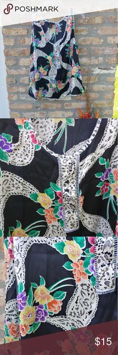 Floral blouse Black with floral print Aria Tops Blouses