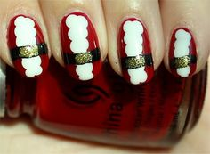 This is Santa nail art I did. One of my favourite Christmas manicures. I wanted to wear it for longer, but then I was itching to try a new design.