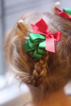 Ribbon tree hair clips