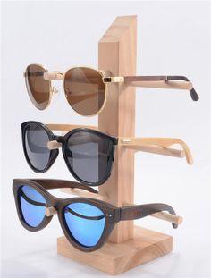 Eyeglass Display Sunglasses Holder Rack Storage Shelf Wood Hang Display Wooden Handmade Detachable 3 Layers Wholesale Retail