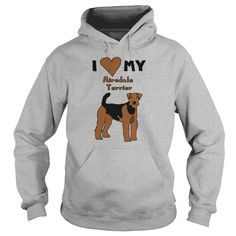 i heart my airedale terrier Womens T-Shirts - Womens T-Shirt