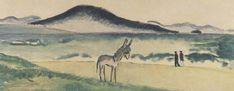 """Kees Van Dongen, """"Le petit âne sur la plage""""   1912-1913  Musée de l'Annonciade à Saint-Tropez"""