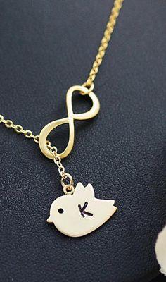 sweet lil' bird necklace