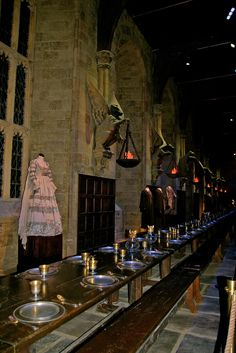 The Great Hall. Harry Potter WB Studio Tour London // have to take this tour when were there and try the butterbeer! Wb Studio Tour, Making Of Harry Potter, Safe Harbor, Sail Away, London Travel, Slytherin, Boys Who, Travel Destinations, Sailing