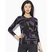 Lauren Ralph Lauren Xenia Crew Neck Geometric Sweater