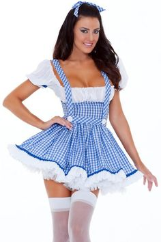 Cheap Sexy Plaids Ball-gown Blue Polyester Maid Cosplay Costume(One Piece Dress) Sexy Costumes For Women, Sexy Halloween Costumes, Girl Costumes, Devil Halloween, Women Halloween, Adult Costumes, Costume Ideas, Hot Outfits, Womens Fashion