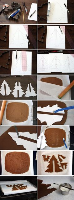 How to make Gingerbread trees