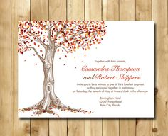 Warm shades of Fall Wedding Invitation  by nmiphotocreations, $3.00 save the date?