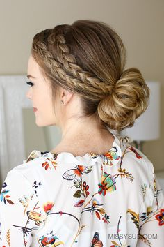 Double Dutch Low Bun Hairstyle