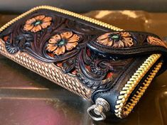 Gorgeous handtooled leather wallet - kubota craft leather - Поиск в handmade fine art craft