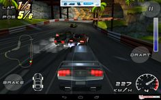 Traditional (and oversimplified) racing game interface which uses traditional metaphor