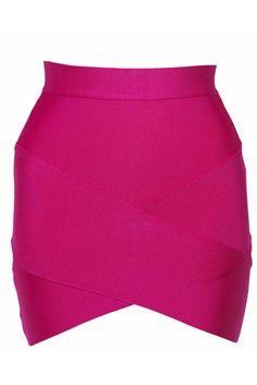 Rosy Bandage Arched Mini Skirt