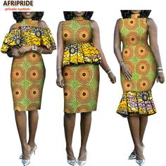 2018 african summer casual dress for women AFRIPRIDE sleeveless knee-length women dress with removable cascading ruffle African Prom Dresses, Deb Dresses, African Fashion Dresses, African Wear, African Dress, African Style, Casual Summer Dresses, Casual Dresses For Women, Vestidos Deb
