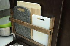 cutting board storage -
