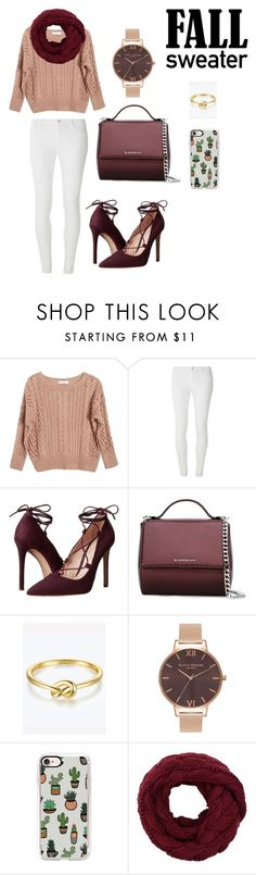 """""""Sweater Weather"""" by anchoredmystyle ❤ liked on Polyvore featuring Ryan Roche, Dorothy Perkins, Massimo Matteo, Givenchy, Olivia Burton and Casetify"""