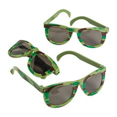 12 Camo Green ARMY SUNGLASSES Dozen Kids Child Birthday Party Favors Glasses FUN #FunExpress #BirthdayChild