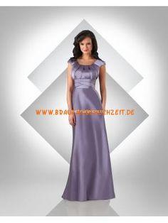 Brautjungfernkleid aus Stretchsatin im Prinzessinstil Bodenlang