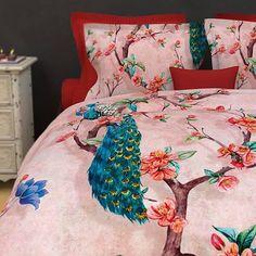 Heckett & Lane Dekbedovertrek Birdy katoensatijn 240 x 220 cm Palace, Comforters, Paons, Dit, Furniture, Birds, Home Decor, Collection, Duvet