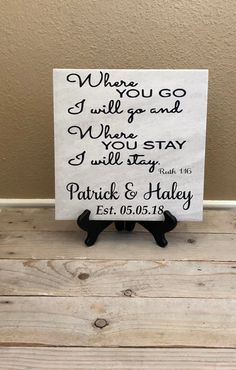 Where You Go I Will Go Sign, Gift for Couple, Military Gifts, Moving Gift for Husband, Family Name S Wedding Gifts For Couples, Personalized Wedding Gifts, Wedding Ideas, Trendy Wedding, Diy Gifts For Kids, Gifts For Family, Grandpa Gifts, Gifts For Husband, Military Wedding