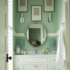 Visit your local Benjamin Moore retailer for advice on #paint projects big and small this spring. (Wall: Prescott Green HC-140)