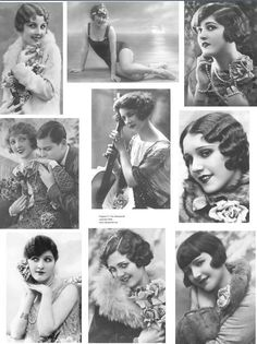 1920s hair - the bob, the shingle cut, finger waves and cropped curls.
