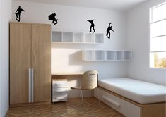 Minimalist kids bedroom designs ideas on add budget 54 - Needless to say, it will be contingent on how well the shades' design and style match your house decor. As soon as you have decided upon your color, y. Small Bedroom Designs, Small Room Design, Small Room Bedroom, Bedroom Decor, Bedroom Furniture, Calm Bedroom, Beds For Small Rooms, Gray Bedroom, Bedroom Kids